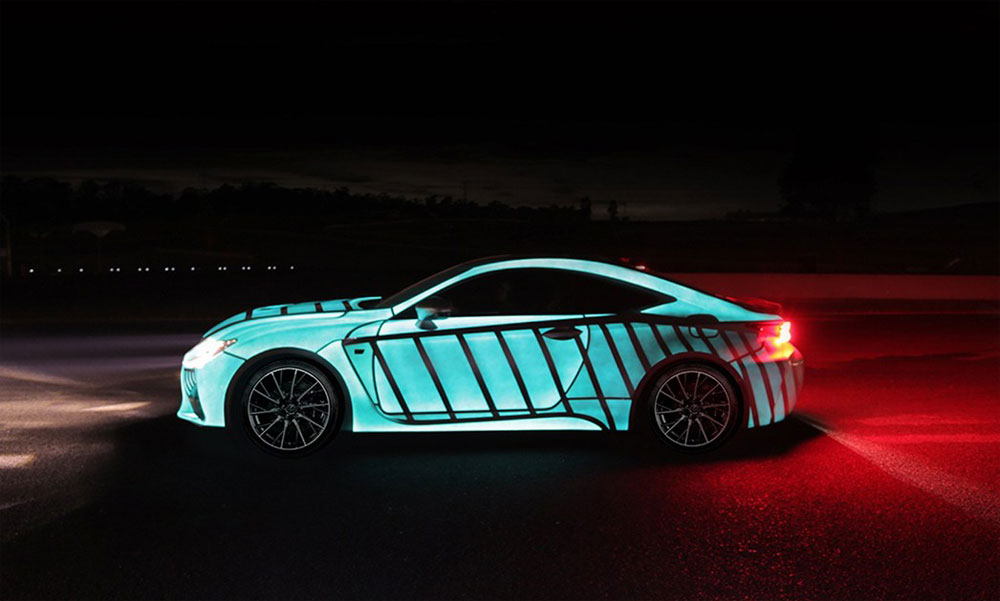 Electroluminescent Paint Car