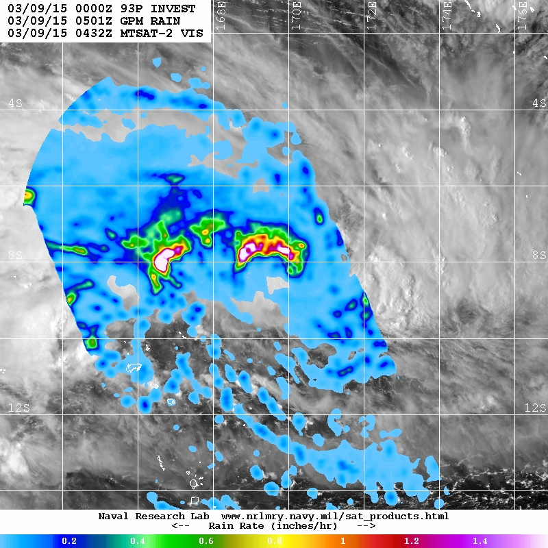 NASA eyes rainfall in newly formed Tropical Cyclone Pam