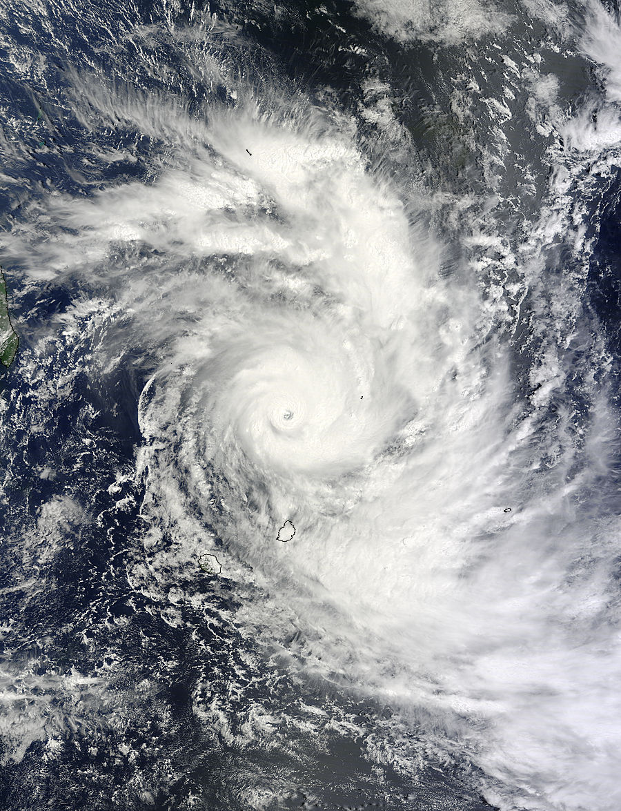 cyclone in mauritius today