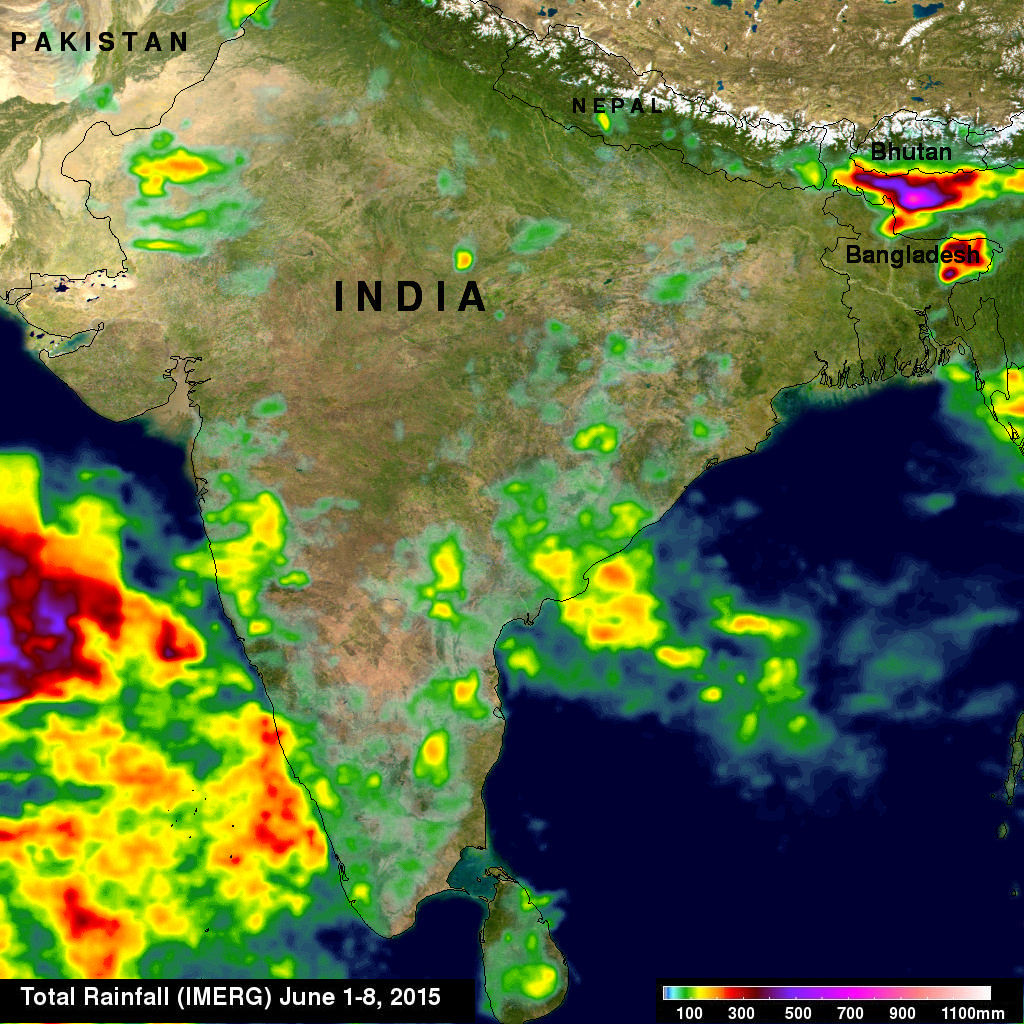Sees The Start Of Indias Monsoon Season - World map online satellite 2015