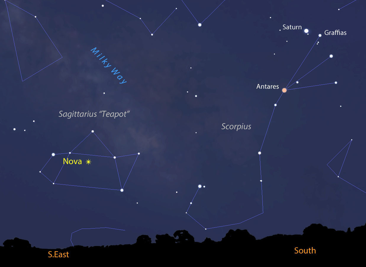 new binocular nova discovered in sagittarius