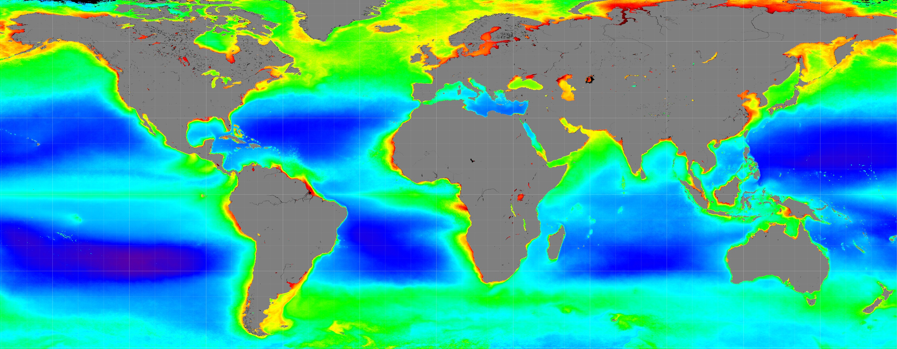 NASA Mission To Study Ocean Color Airborne Particles And Clouds - World map online satellite 2015