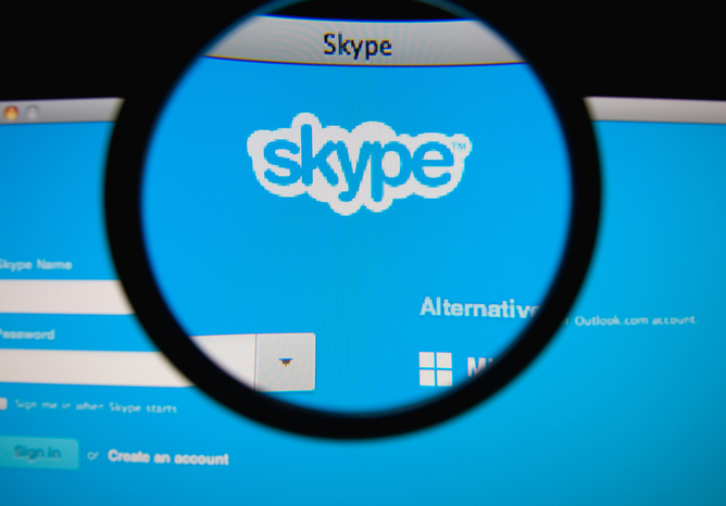 how to delete skype conversation with one person