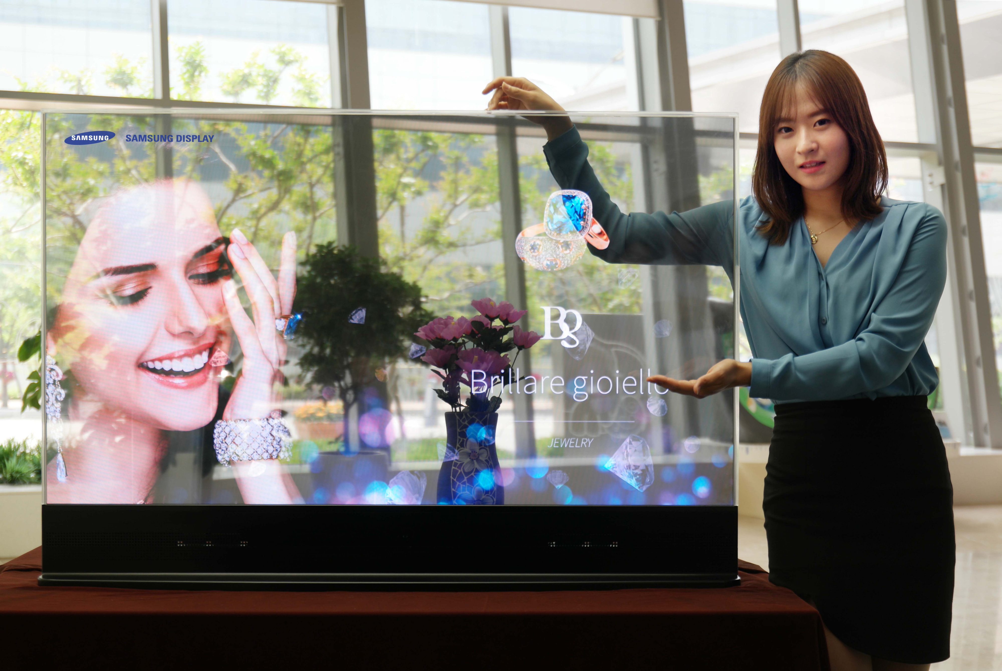 samsung introduces first mirror and transparent oled display panels