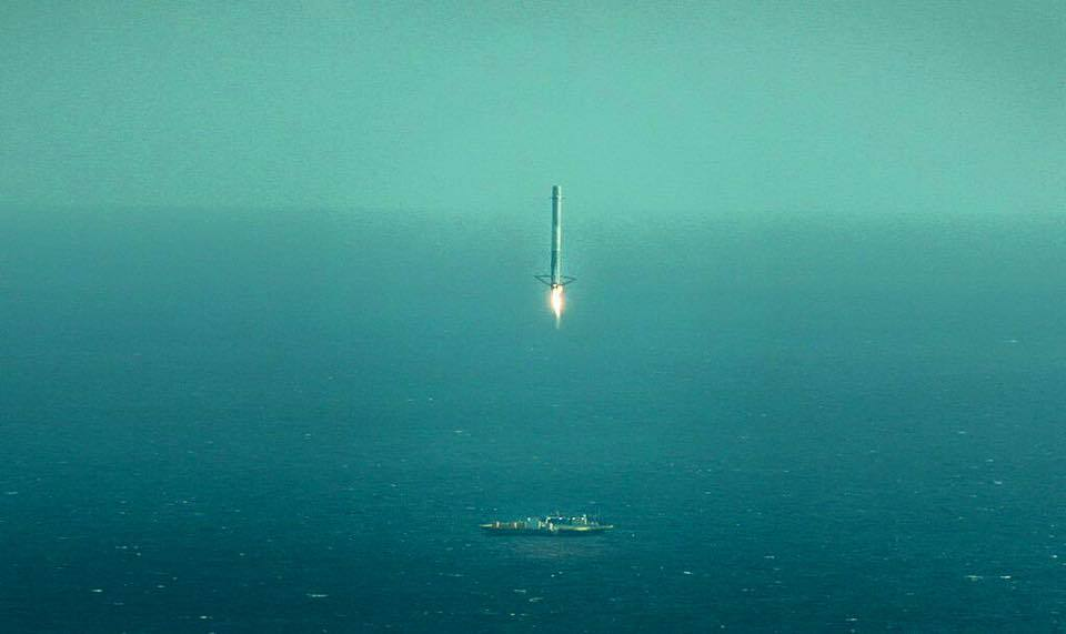 video reveals dramatic spacex falcon rocket barge landing and launch