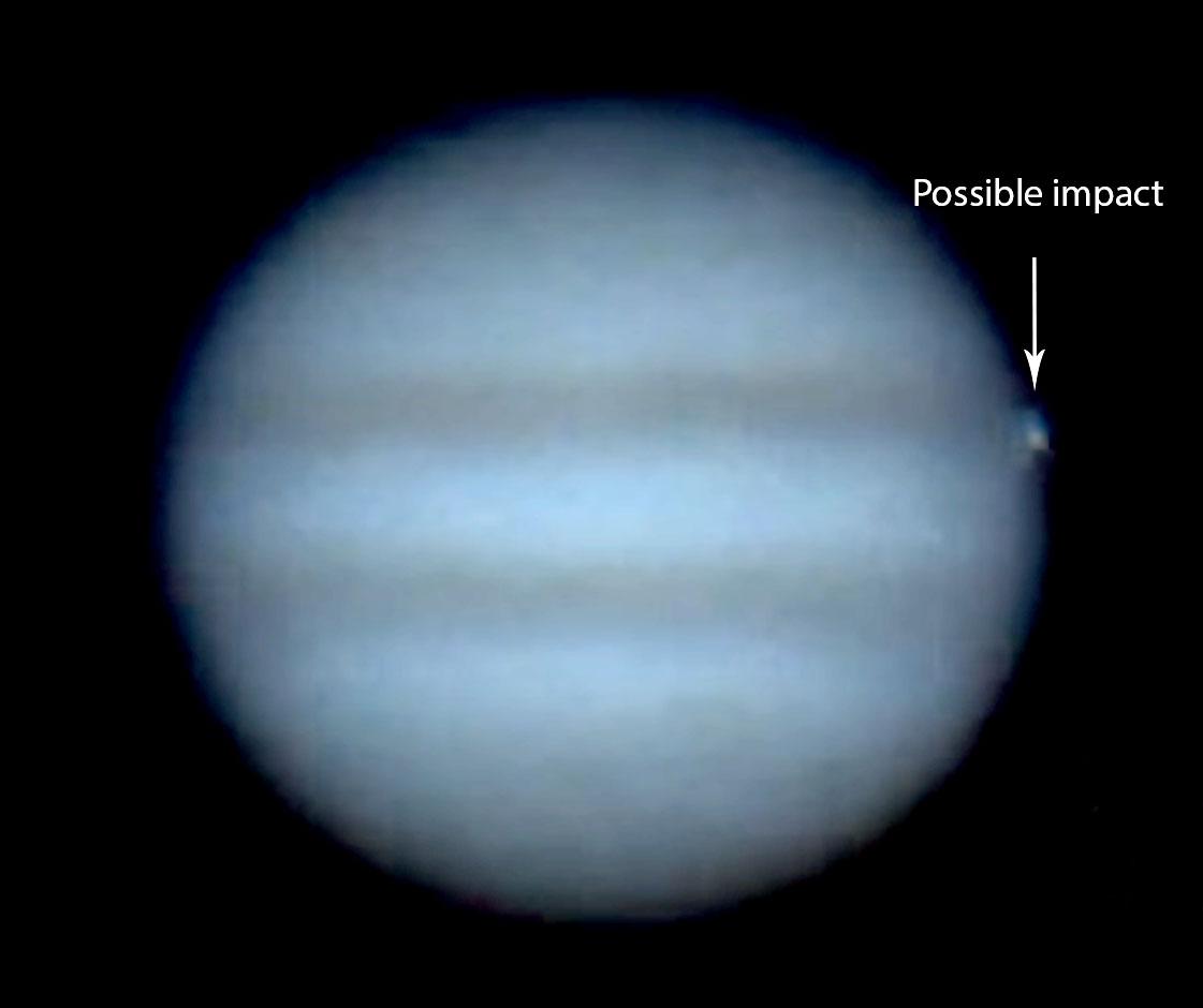 amateur astronomer spots apparent large impact on jupiter