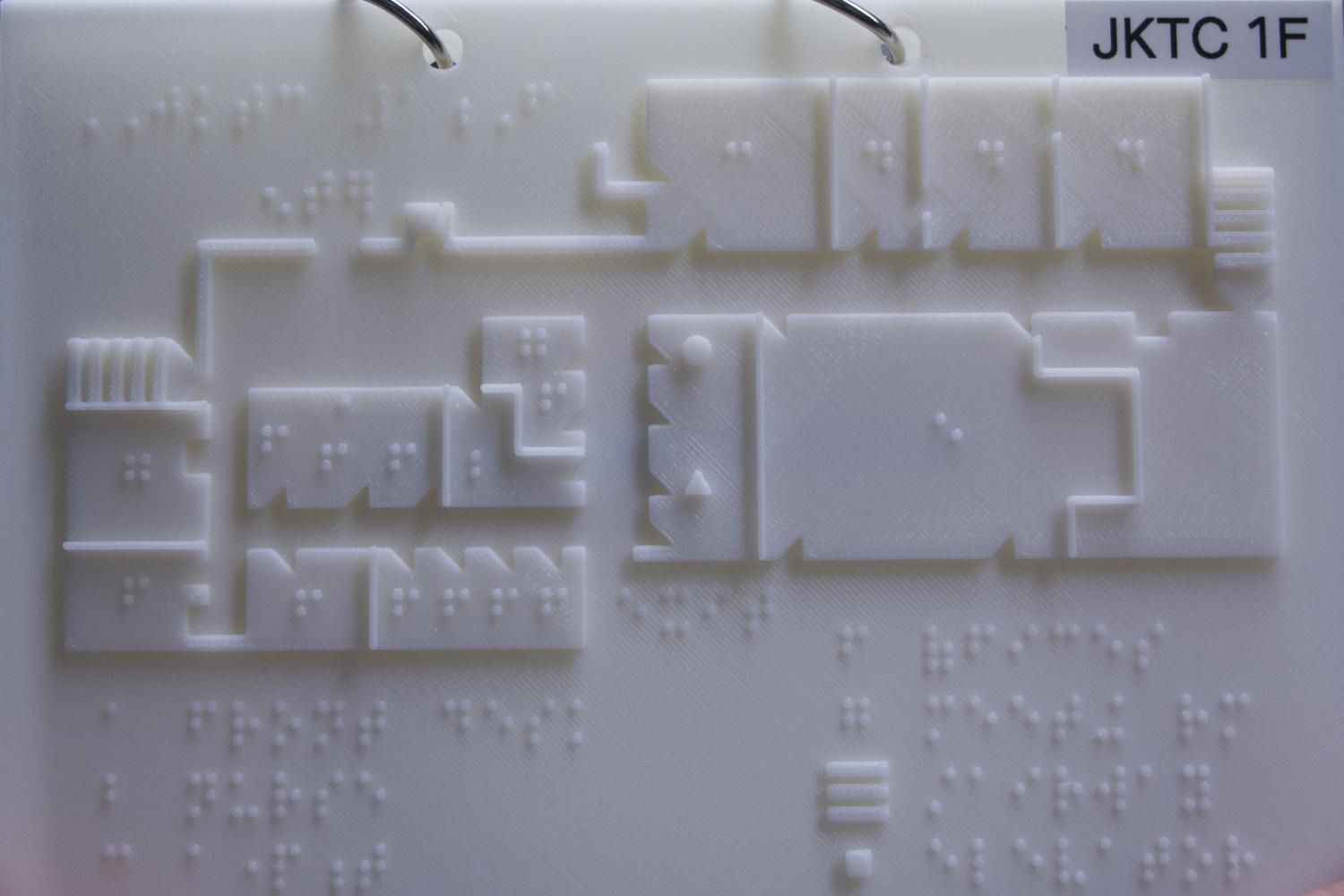 Braille Maps For Blind And Visually Impaired Created With