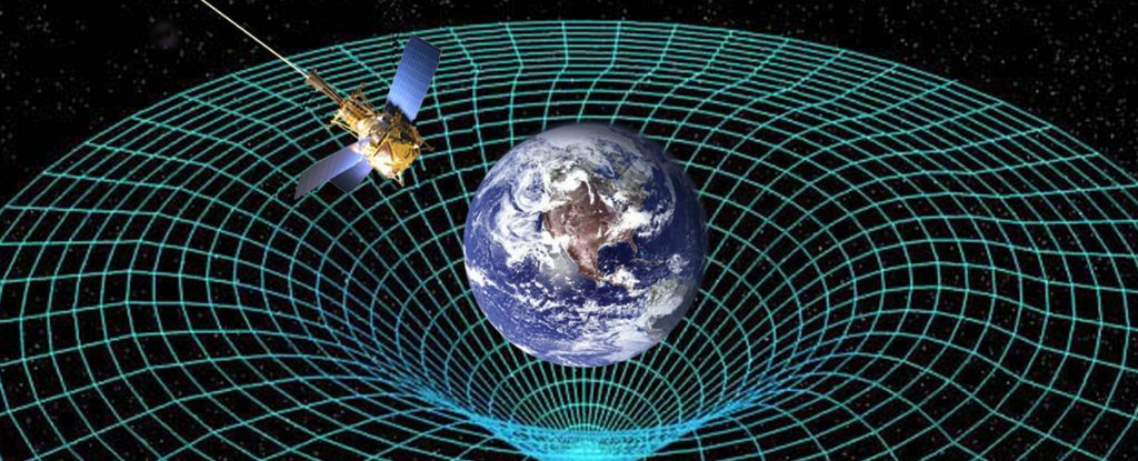 artist s impression of the effect earth gravity has on spacetime credit nasa