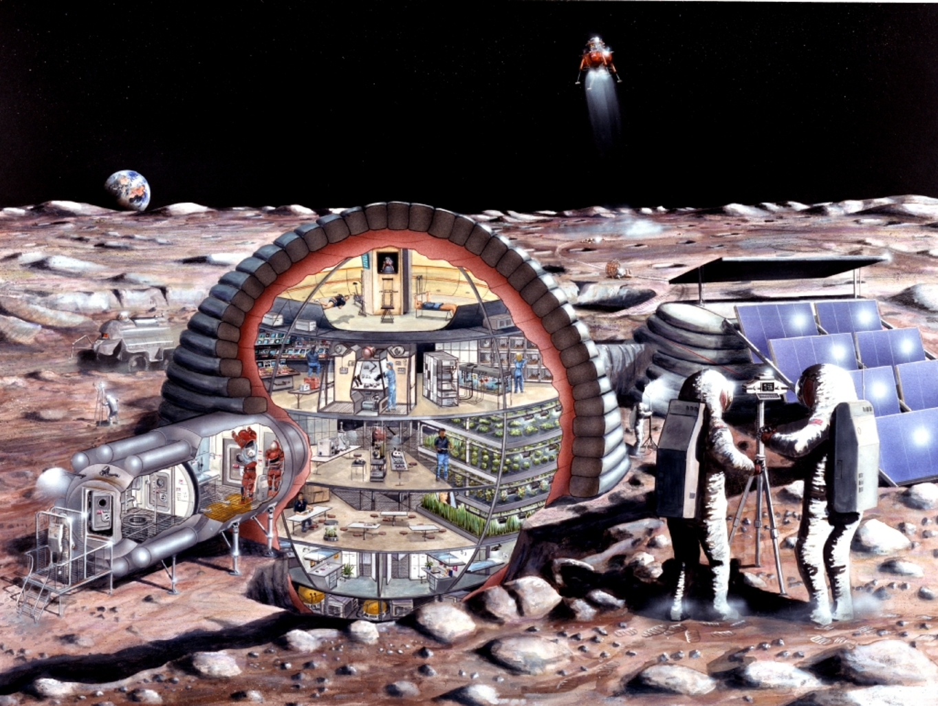 inflatable moon base -#main