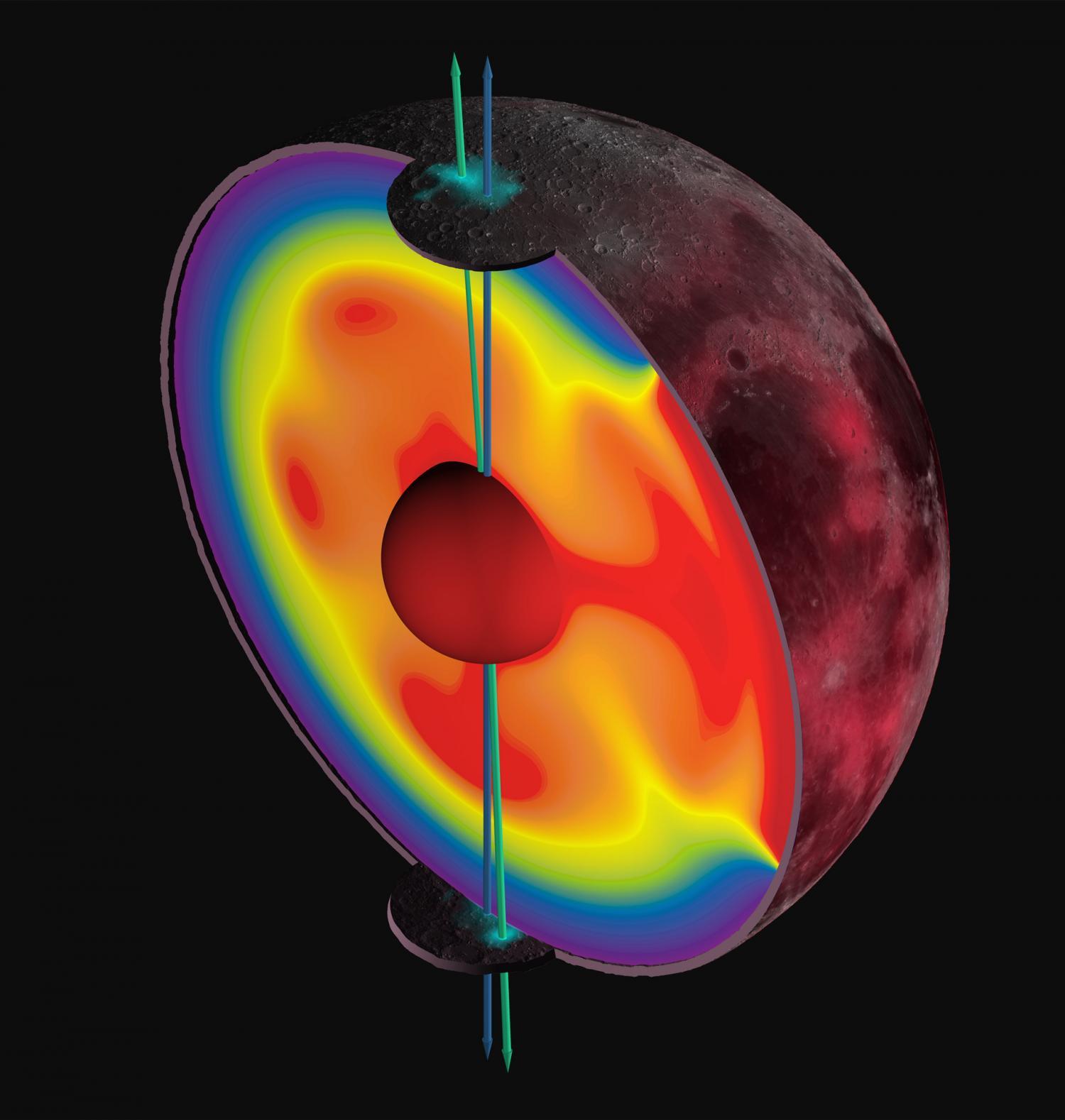 Earth's moon wandered off axis billions of years ago ...