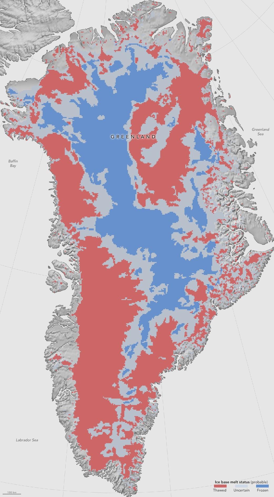 Nasa maps thawed areas under greenland ice sheet gumiabroncs Gallery