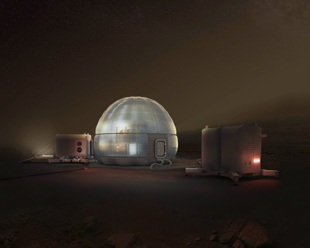 Nasa Might Build An Ice House On Mars How To Courtesy Light The Home Concept Credit Clouds Architecture Office Langley Research Center Space Exploration