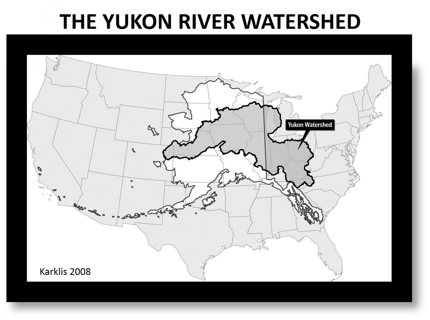 Permafrost loss changes yukon river chemistry with global implications the yukon river watershed is immense as evidenced here when it is superimposed over a map of the continental us credit laris karklis gumiabroncs Image collections