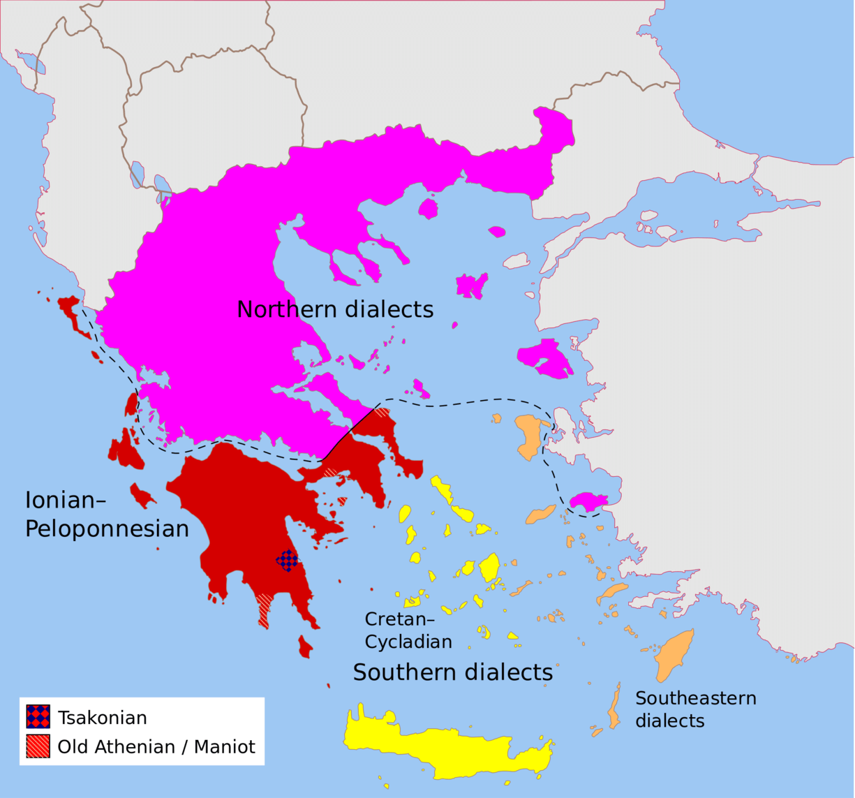 Speaking dialects trains the brain in the same way as bilingualism modern greek dialects credit pitichinaccio via wikimedia commons cc by gumiabroncs Image collections