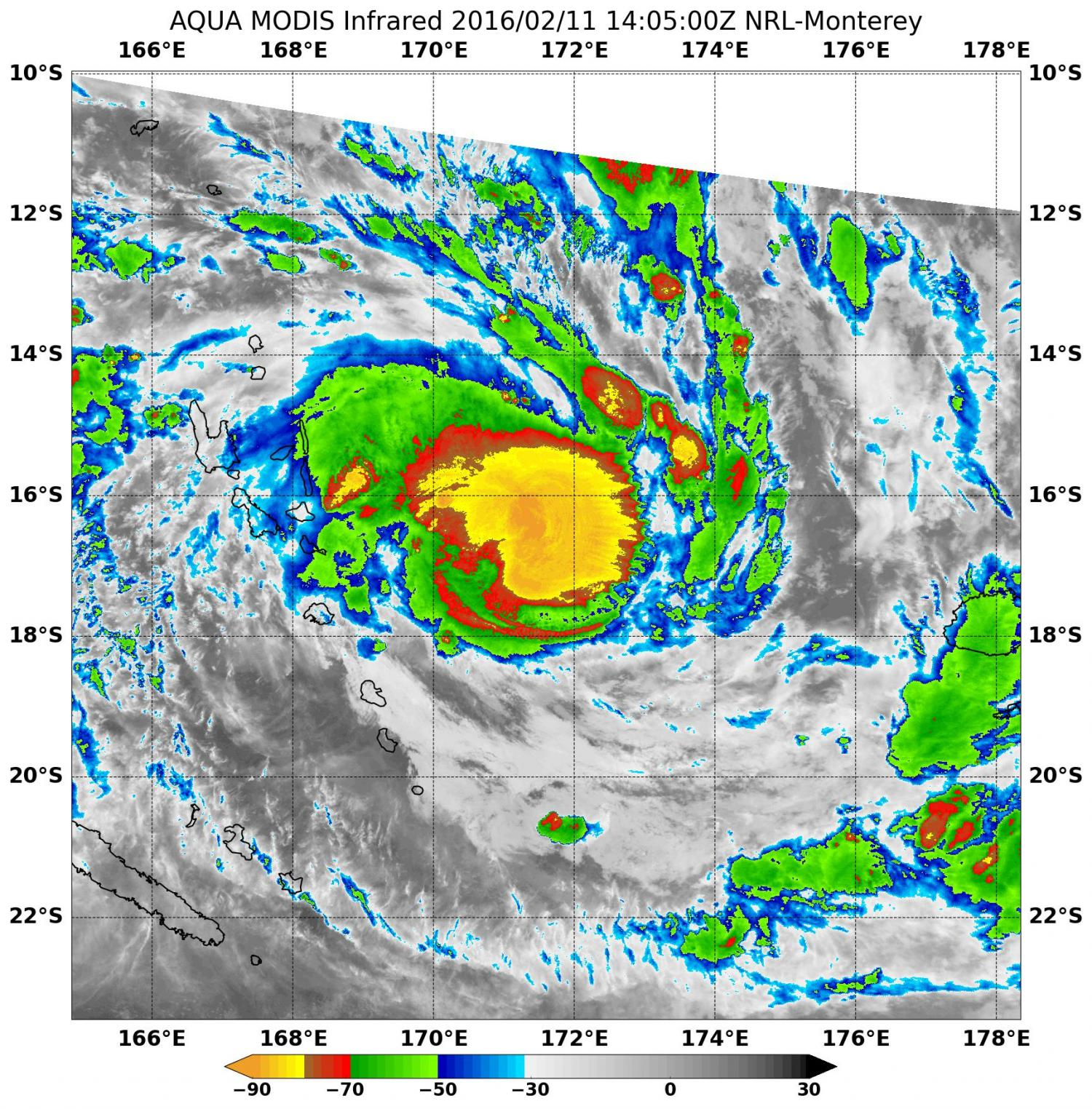 sees Tropical Cyclone Winston form
