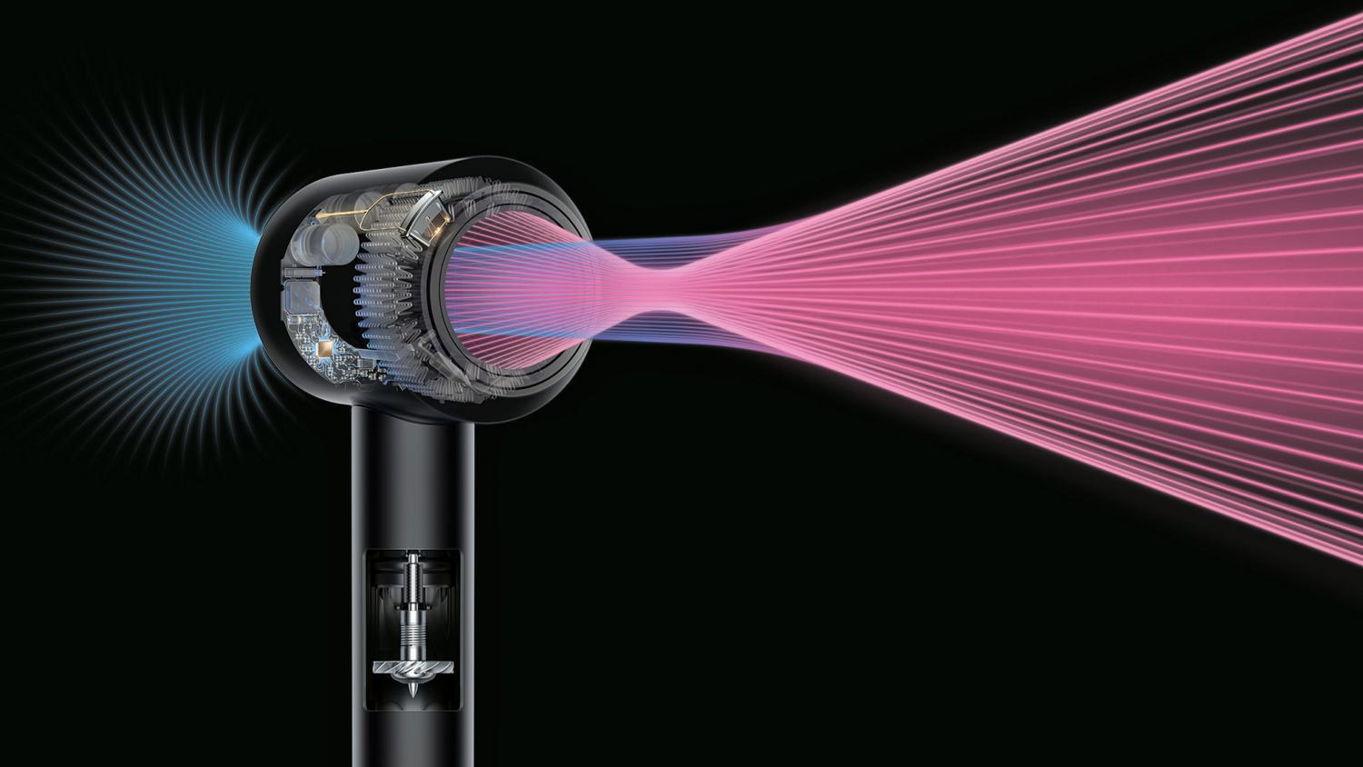 Fast Spinning Heat Controlling Hair Dryer Latest Dyson Opus