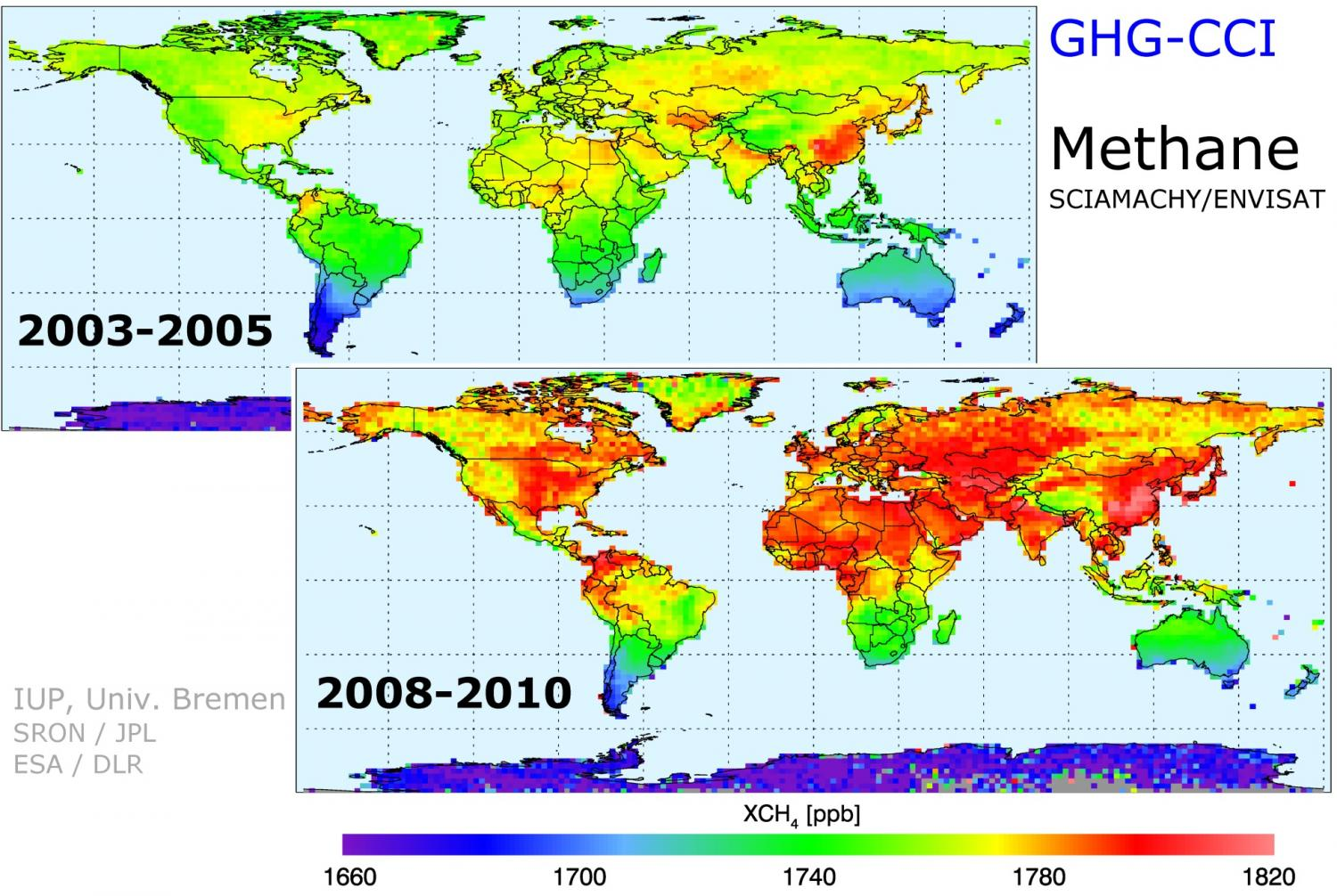 And Carbon Dioxide On The Rise - Us greenhouse gas concentration maps