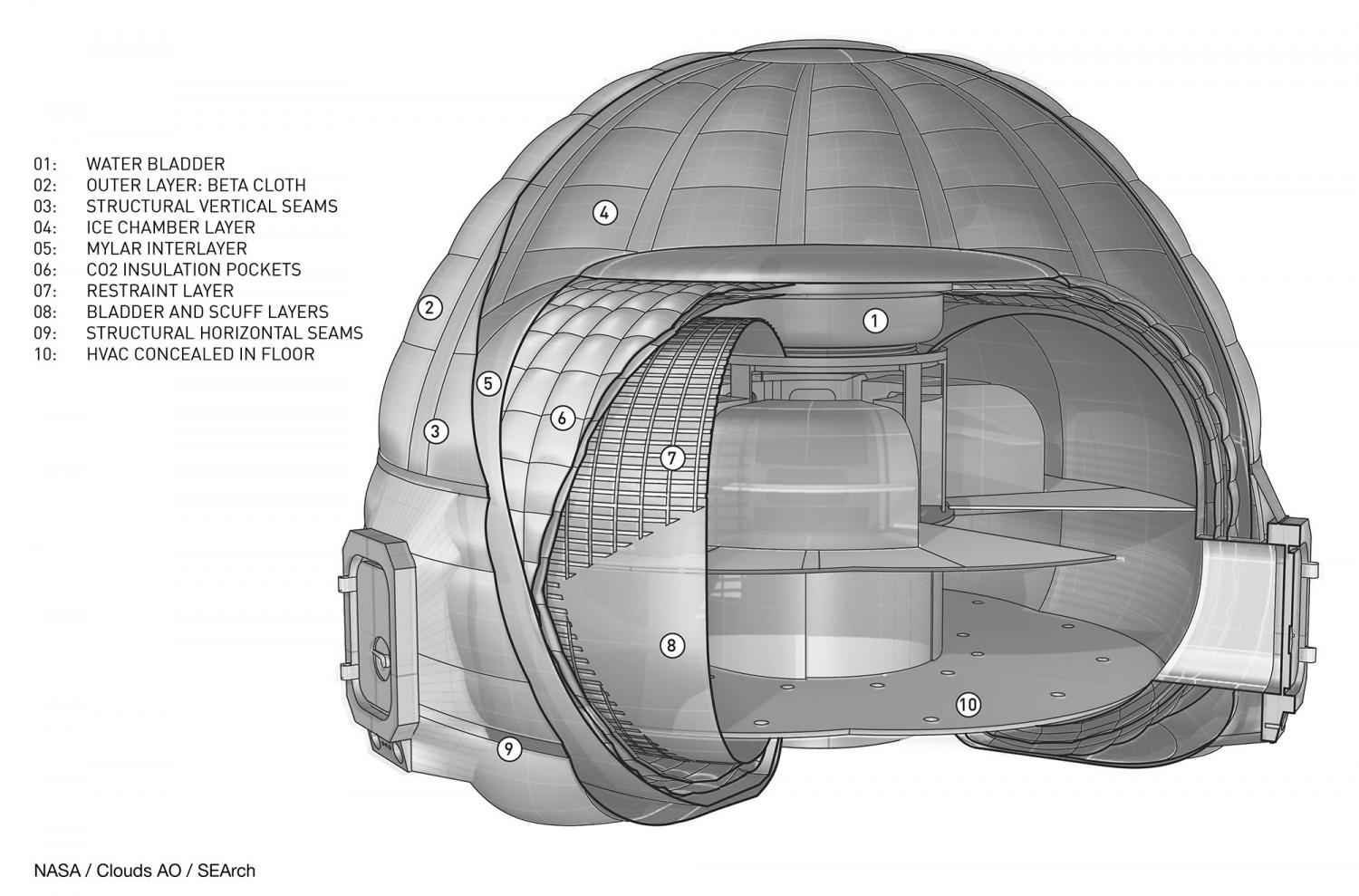 Nasa might build an ice house on mars - How to build a floor for a house concept ...