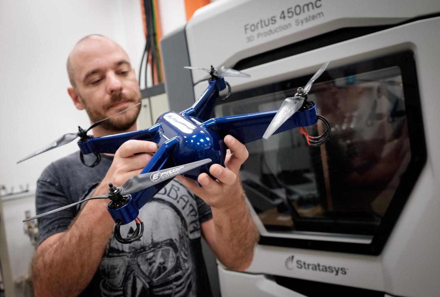 3-D Printed Operational Drone With Embedded Electronics -6371