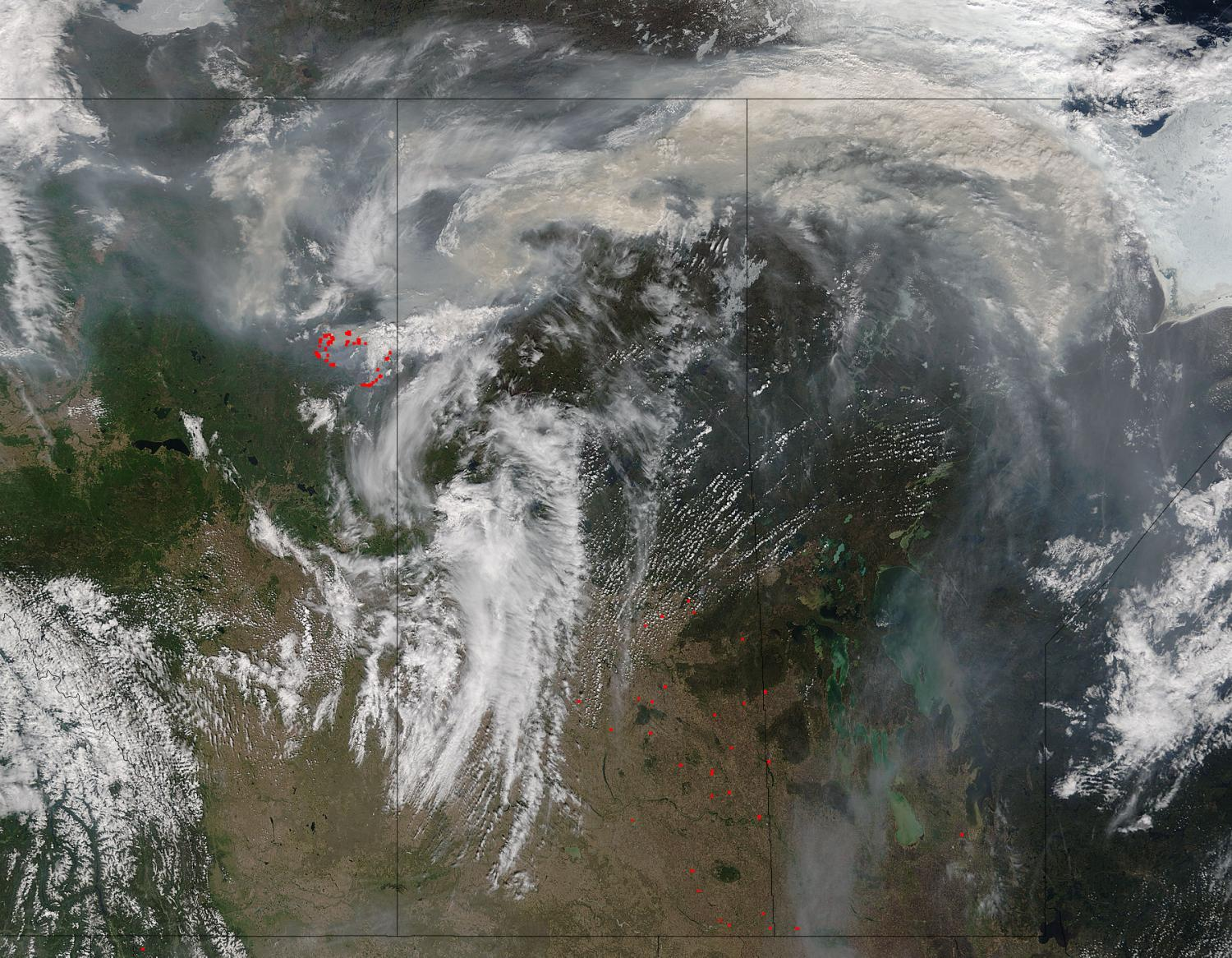Nasa Satellites Image Fort Mcmurray Fires Day And Night