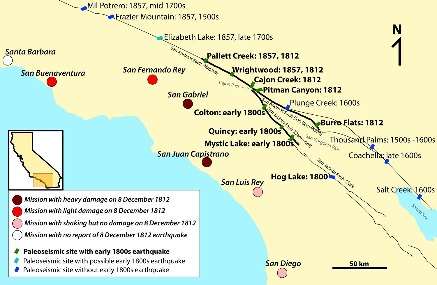 Model Suggests 1812 San Andreas Earthquake May Have Been Set Off By