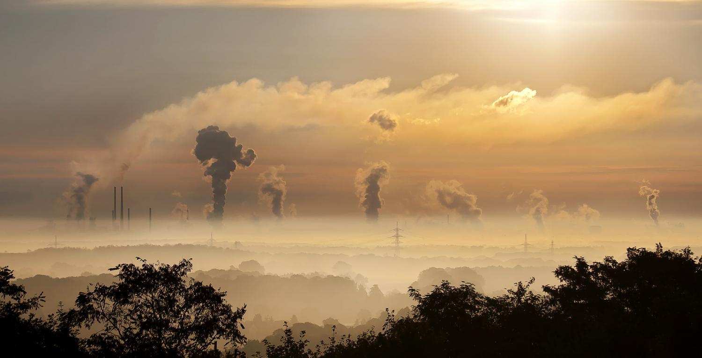 Air pollutants in the atmosphere