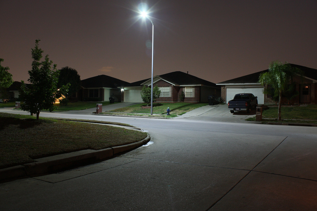 New LED Streetlights In The City Of Houston, Texas. Credit: Meltedpastic Awesome Design