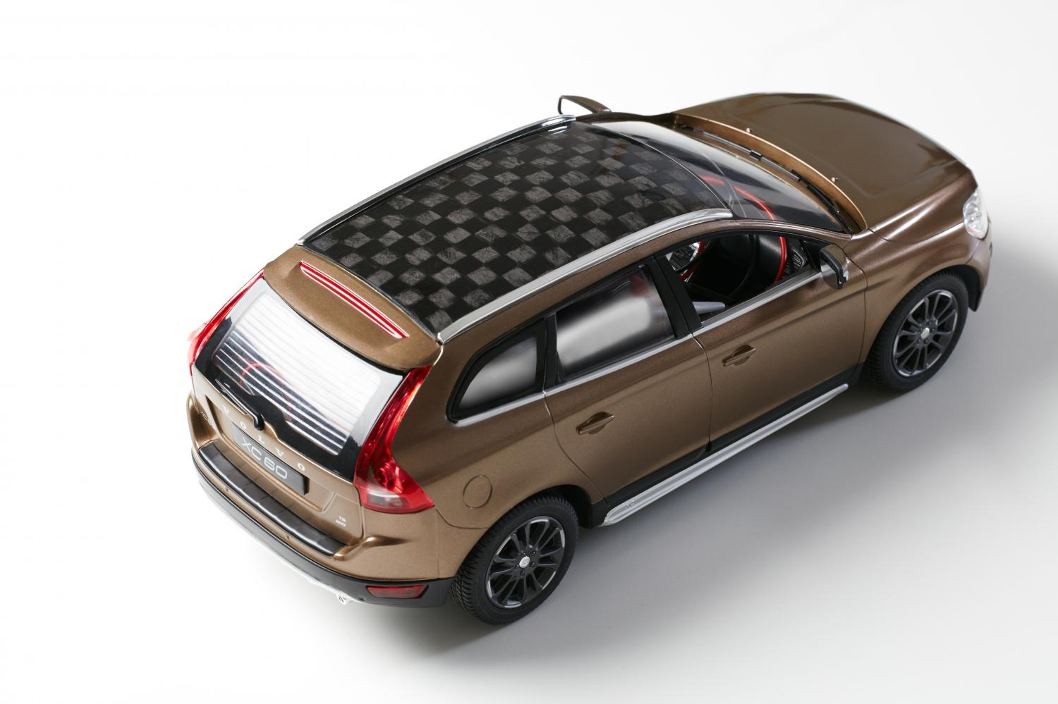 Carbon fiber from wood is used to build car