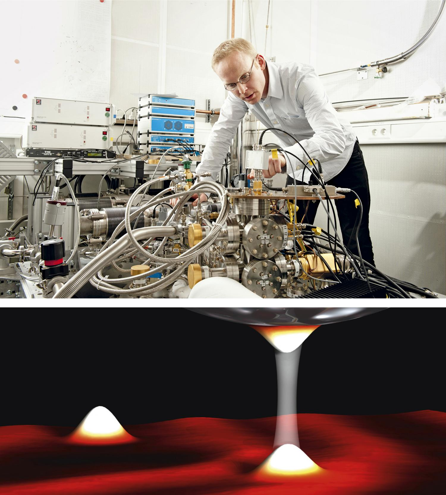 Close to absolute zero, electrons exhibit their quantum nature