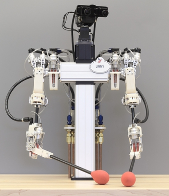 Hybrid hydrostatic transmission enables robots with human-like grace