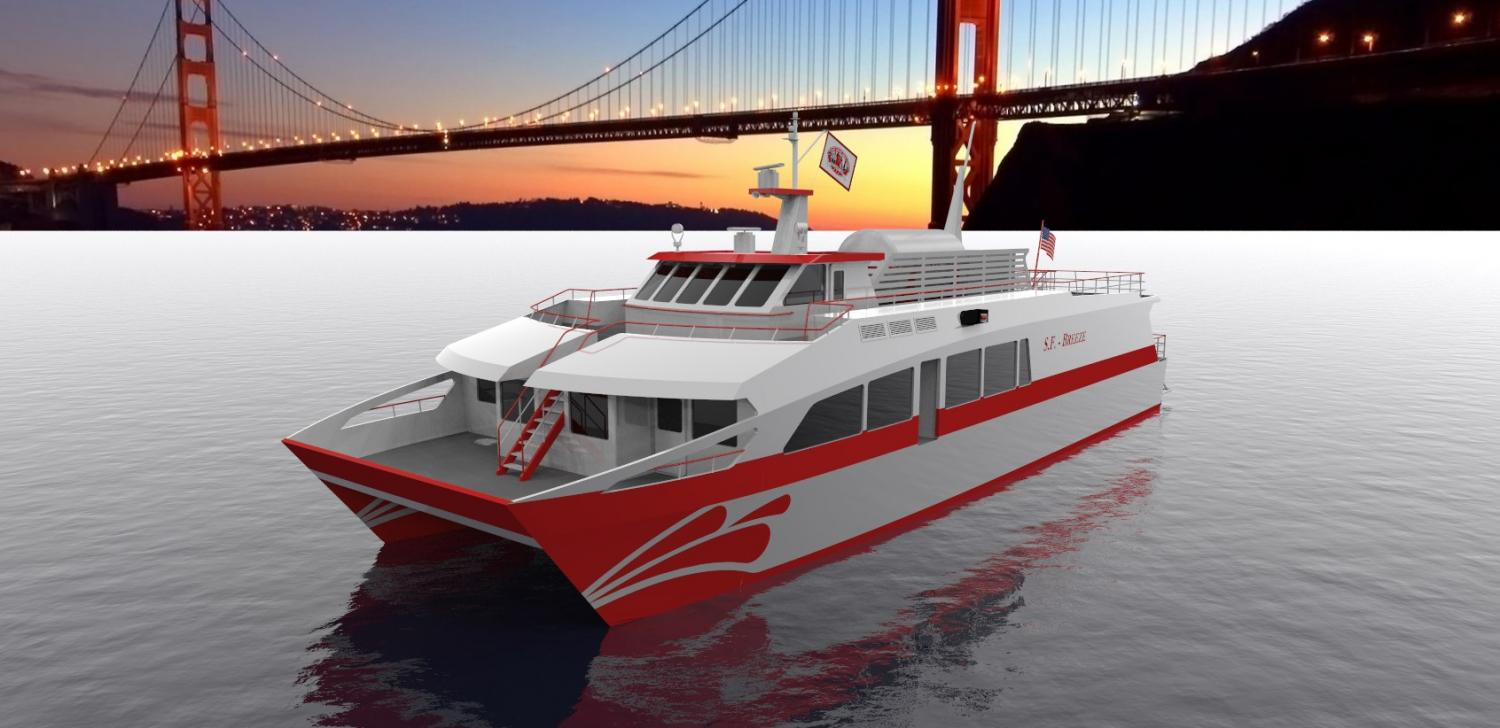 Hydrogen Powered Passenger Ferry In San Francisco Bay Is
