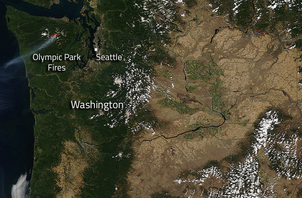Image: Olympic National Park fires in Washington State