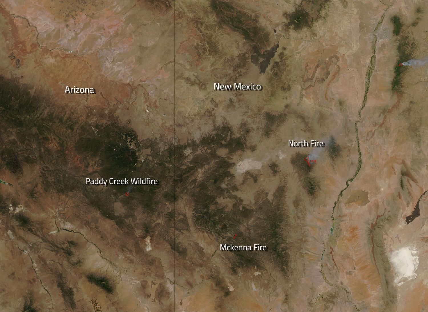 Image Several Fires Burn In Arizona And New Mexico