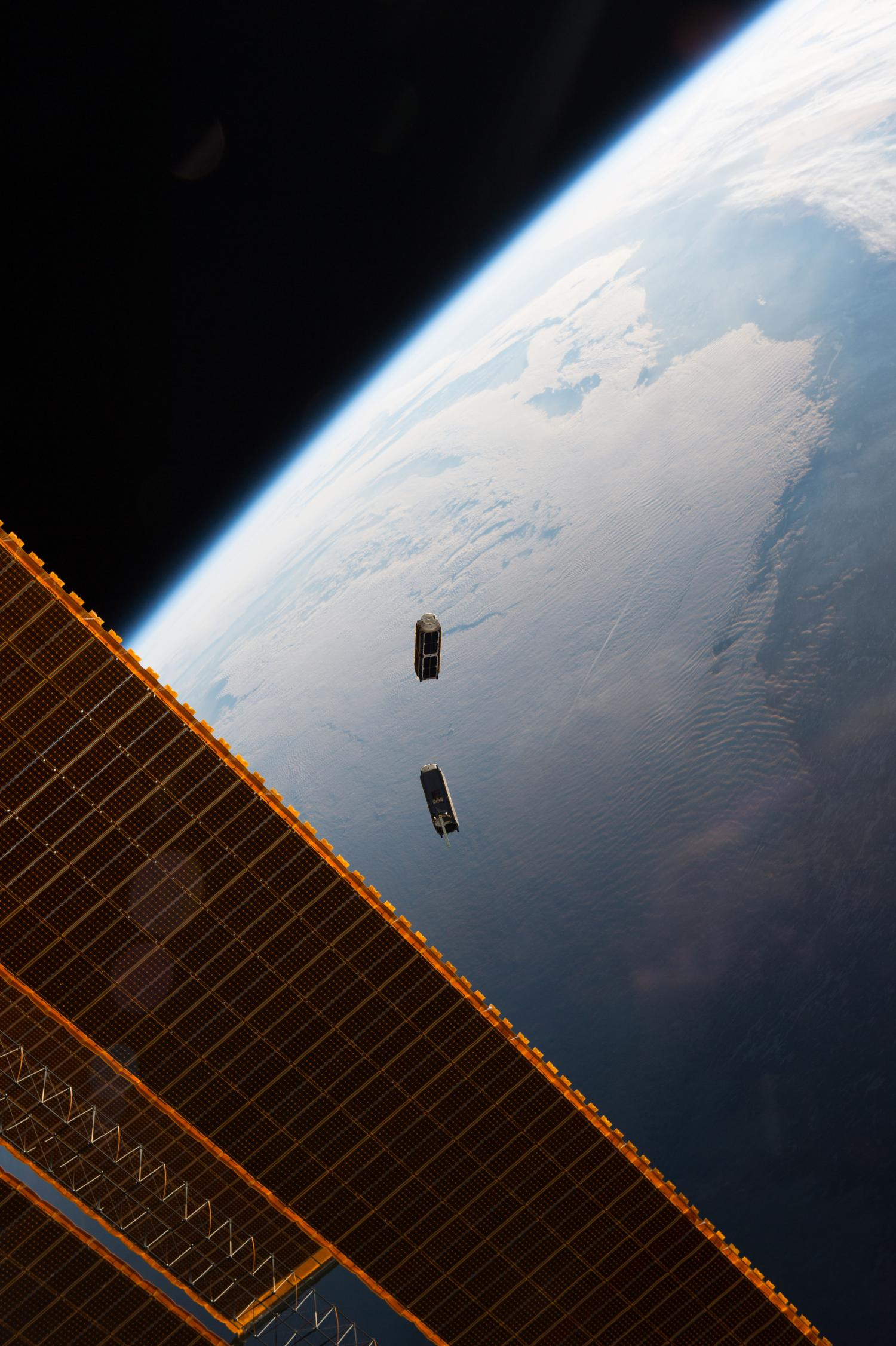 Nasa Image Cubesats Deployed From The International Space