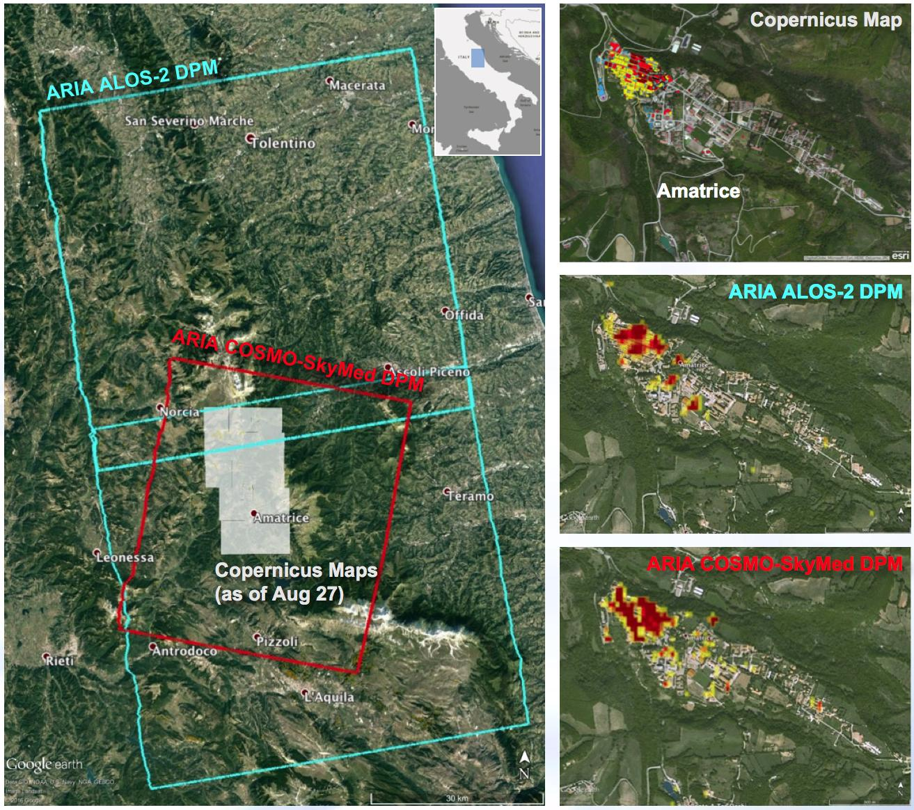 Nasa Produced Maps Help Gauge Italy Earthquake Damage