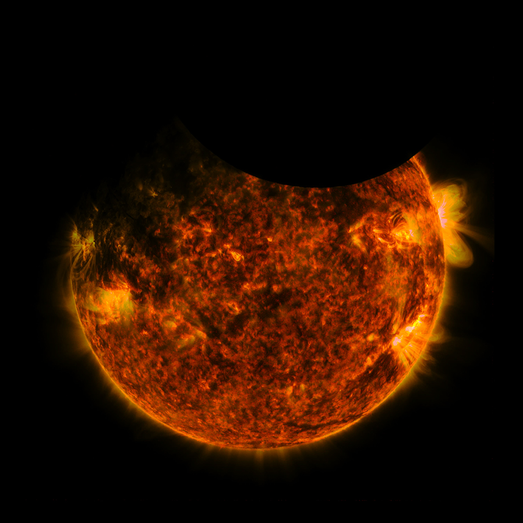 SDO witnesses a double eclipse (w/ video)