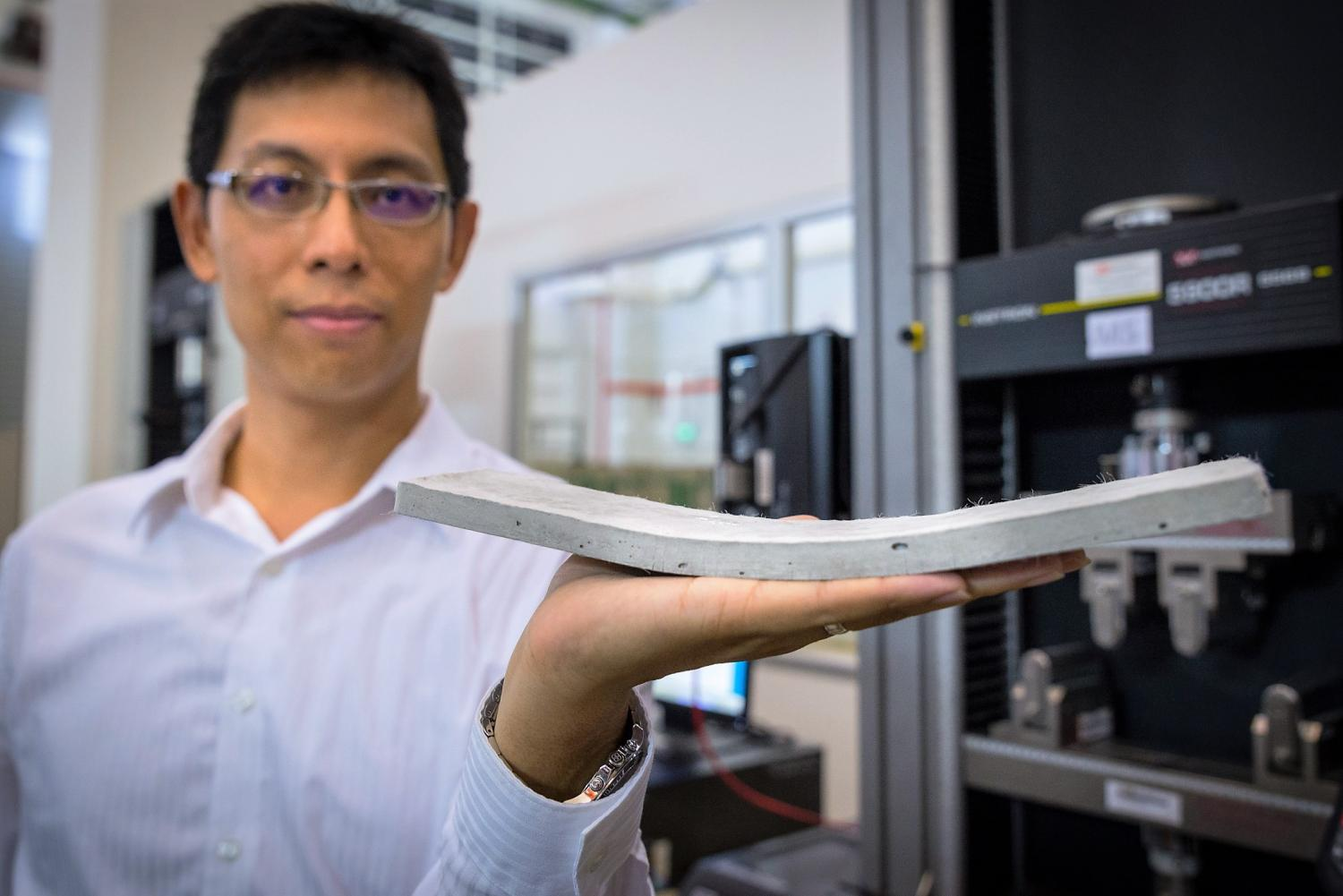 NTU-JTC scientists have developed flexible concrete that is stronger and more durable than normal 1