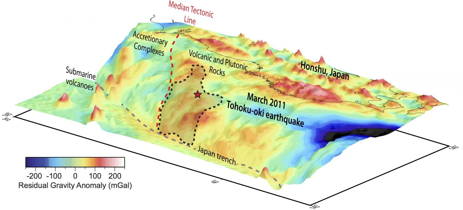 Study Pinpoints Stress Factor Of Megaearthquake Off Japan - Japan map earthquake