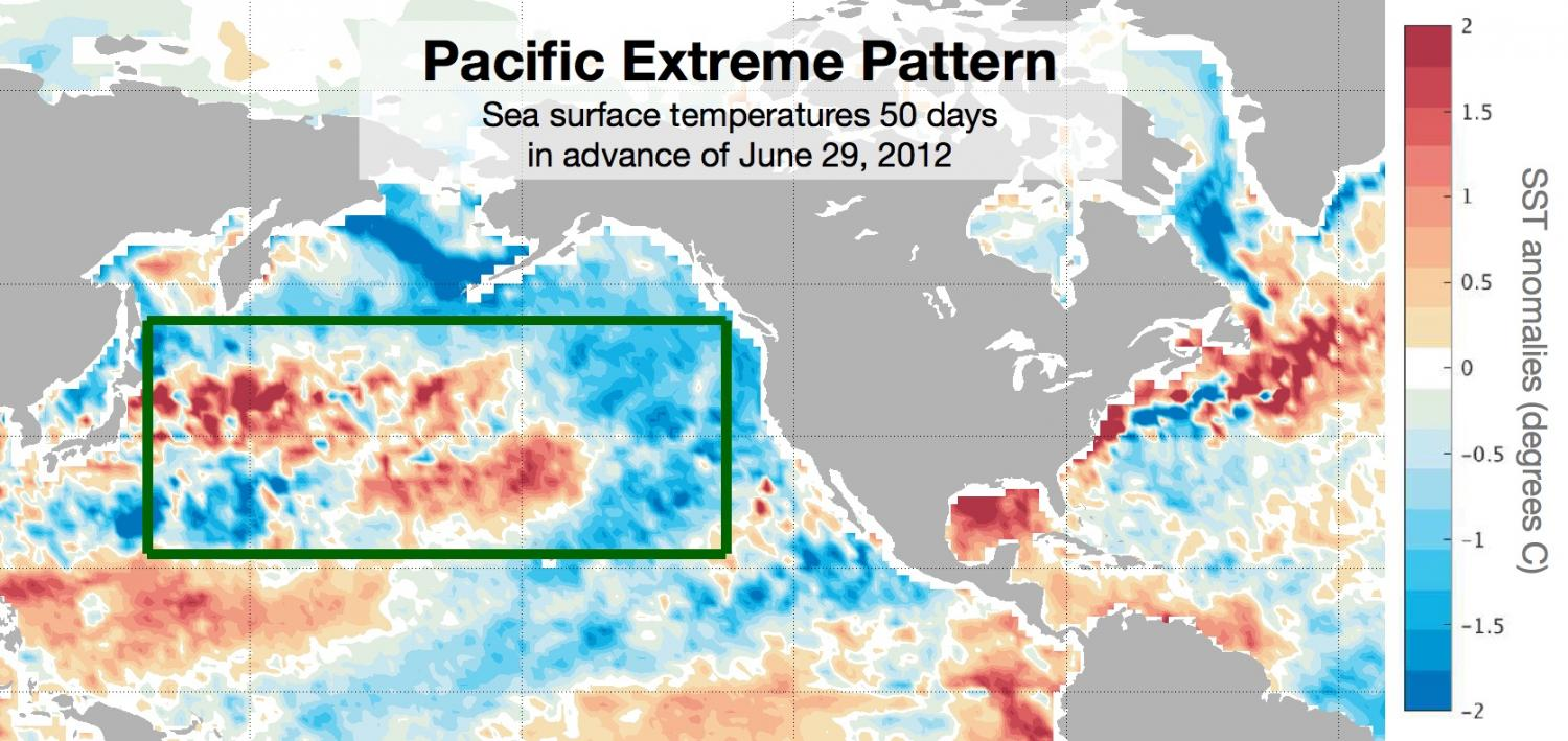 Ocean temps predict US heat waves 50 days out study finds