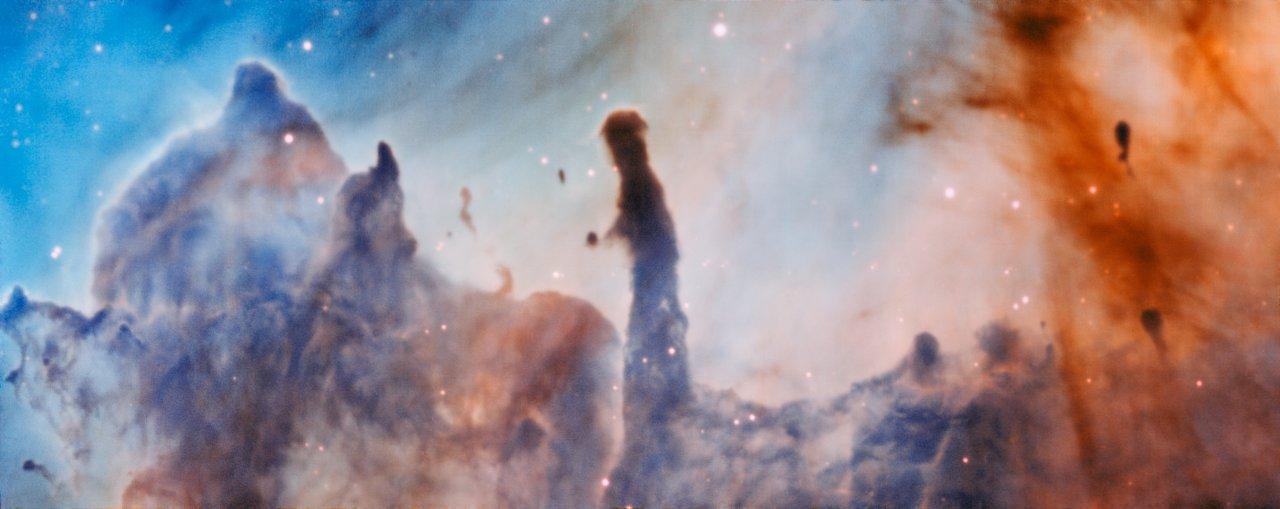 Pillars Of Destruction Colourful Carina Nebula Blasted By - Nasa release new hd photographs iconic pillars creation photo