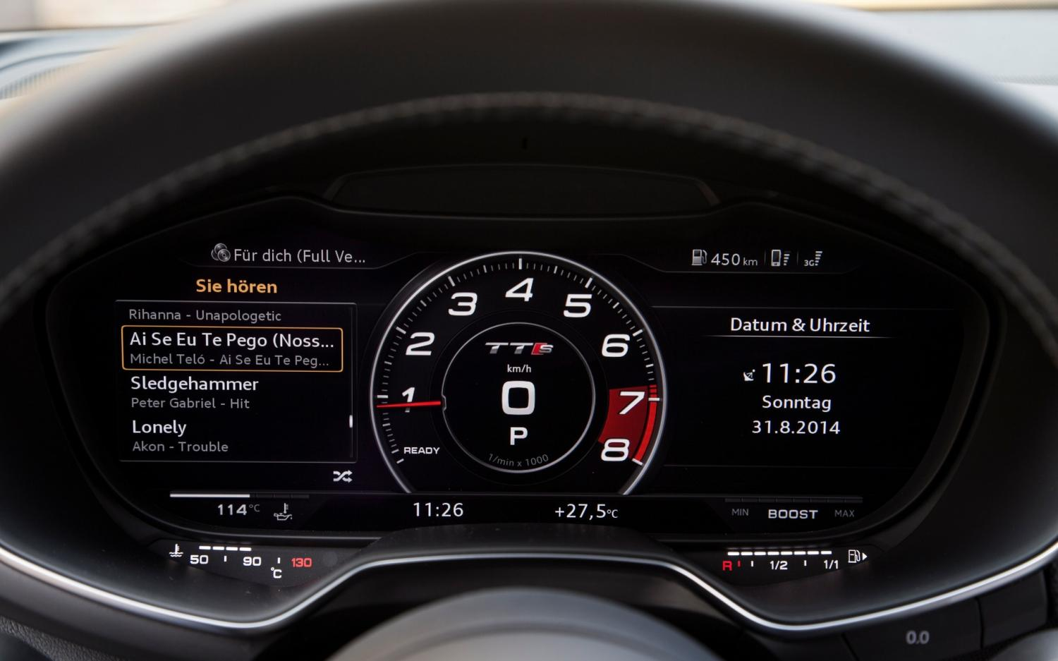 review audi tt 39 s virtual cockpit is the future of dashboards. Black Bedroom Furniture Sets. Home Design Ideas