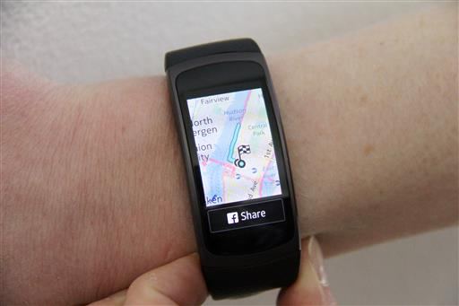 Samsung Challenges Fitbit With Fitness Tracker With GPS - Running map distance tracker