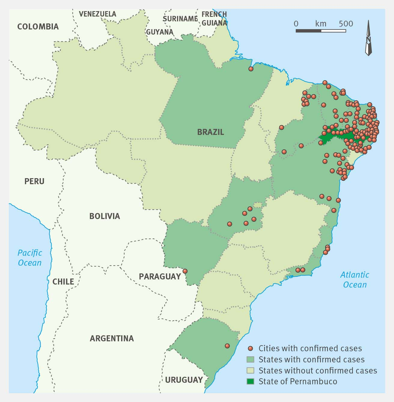 Confirm Brain Damage In Babies Born With Microcephaly Associated - Argentina zika map