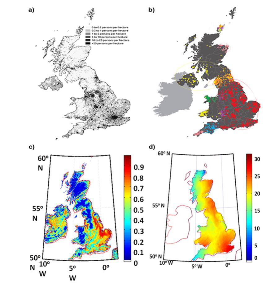 simulation of prehistoric population dynamics using current topographical satellite data - Simulation Coloration