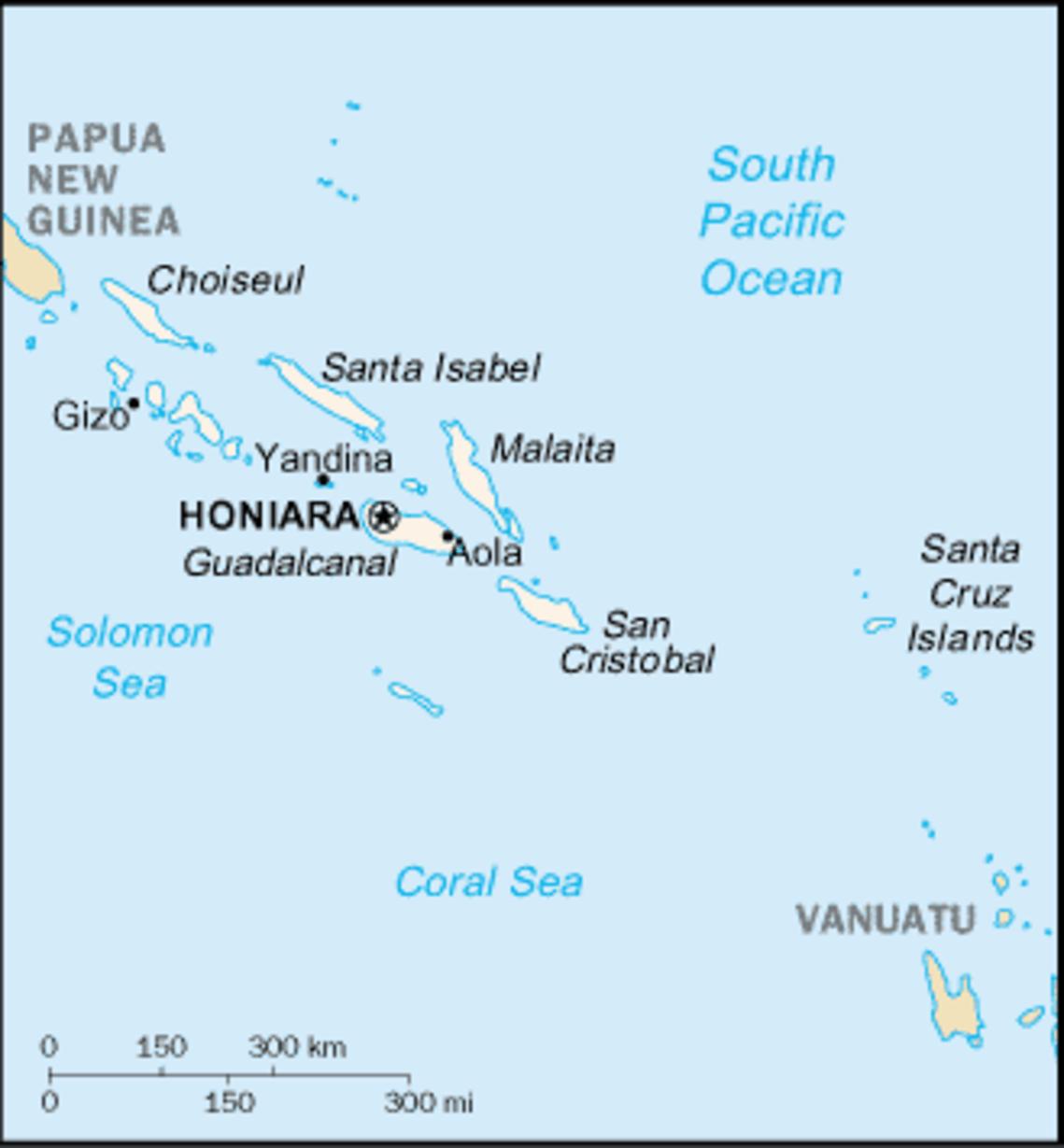 Cia Map Of Solomon Islands