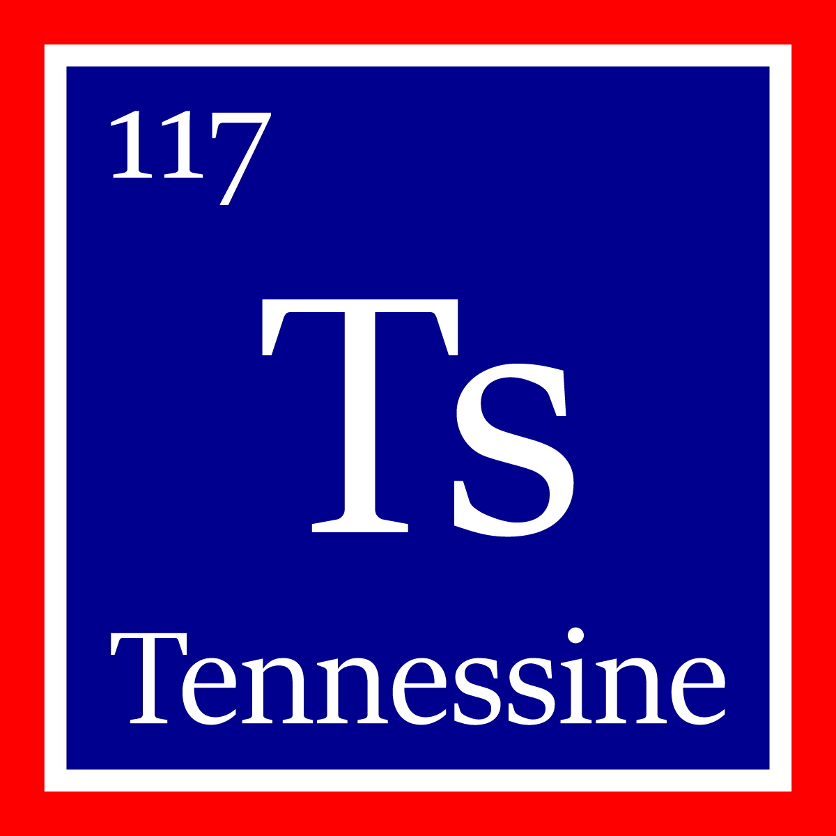 Tennessine element 117 officially named the new element tennessine is denoted by the symbol ts on the periodic table credit ornl urtaz Gallery