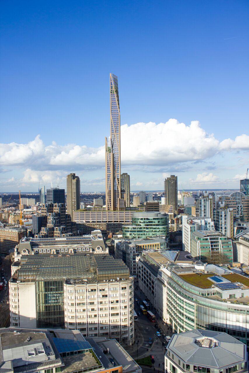 london skyline timber skyscraper skyscrapers transform hires could conceptual