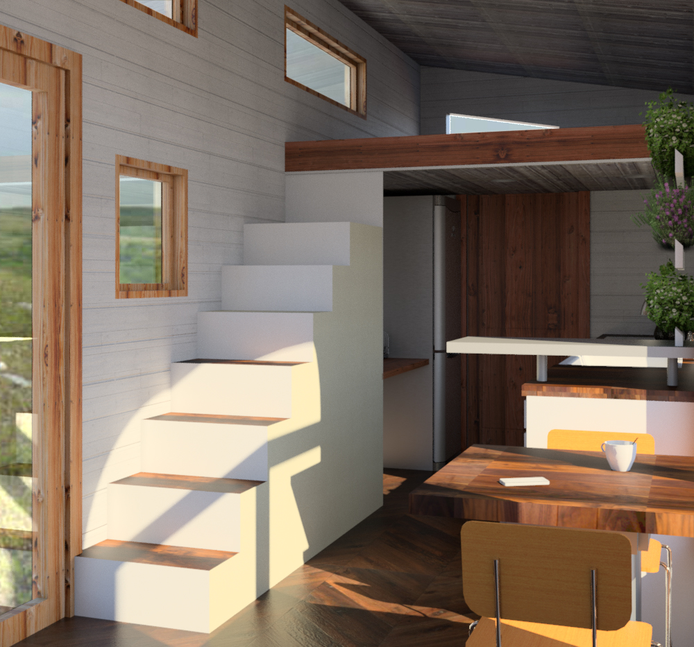 Rendering Of Tiny House Stairs Credit Kansas State University