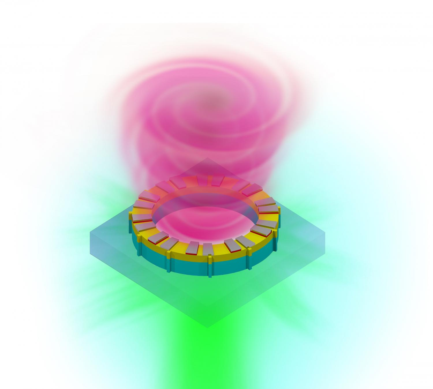 Vortex Laser Offers Hope For Moores Law Circuit Has A Pair Of Emitting Diodes And Receiver