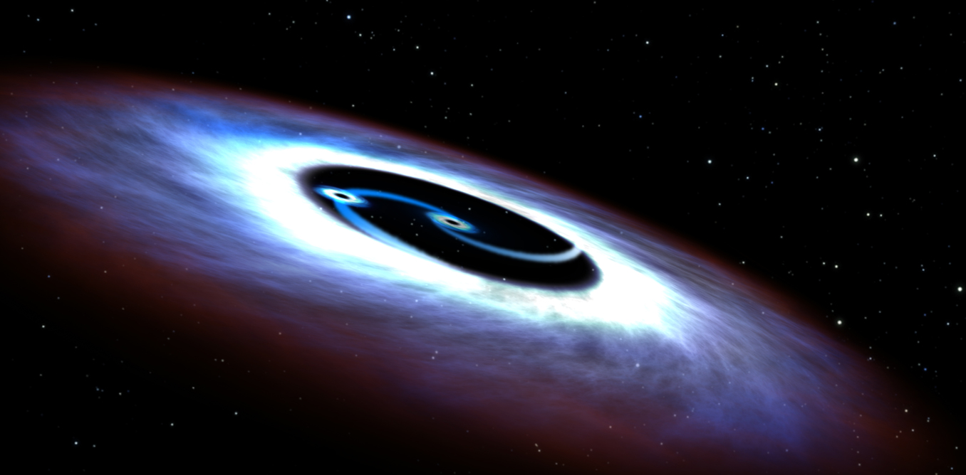 when black holes meet inside the cataclysms that cause binary black holes come in a variety of forms but they are all astounding credit nasa esa and g bacon stsci